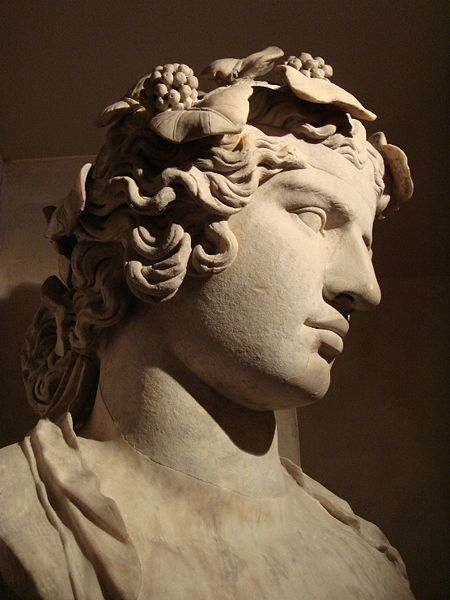 A statue of Antinous discovered at Hadrian's Villa.  Statue is now located in the Fitzwilliam Museum in Cambridge