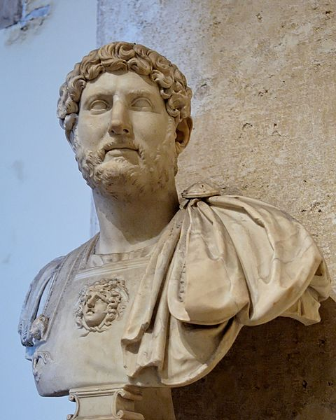 Bust of Hadrian from the Capitoline Museum in Rome, Italy