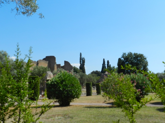 The palatial gardens of Hadrian's villa, his countryside escape from the chaos of Rome