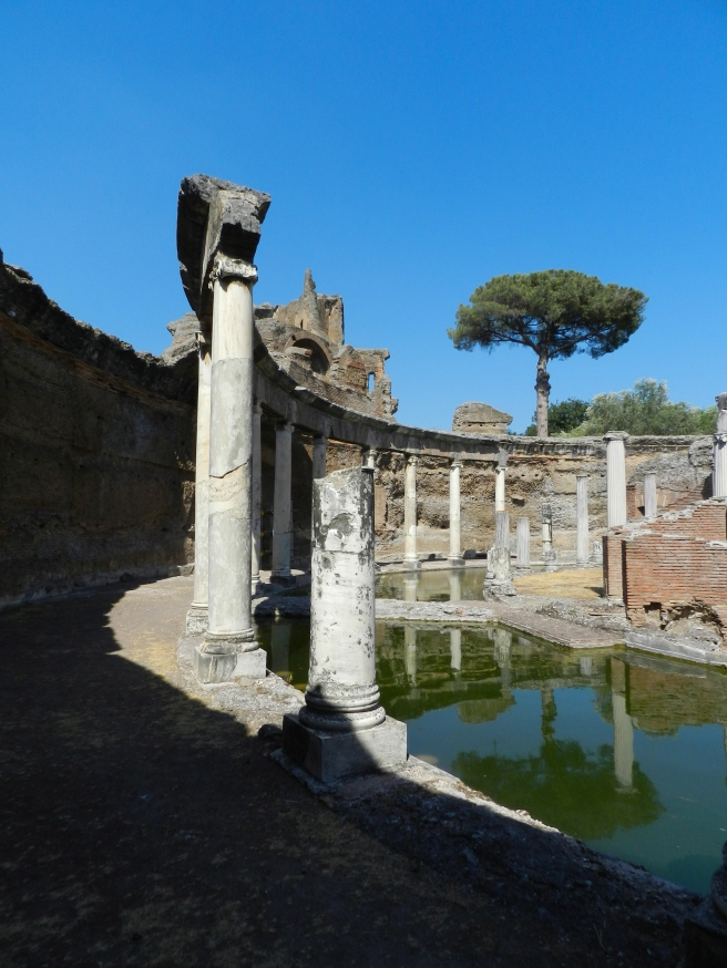 The moat which separates the Maritime Theater from the rest of the villa.  This was a place where Hadrian could truly be alone