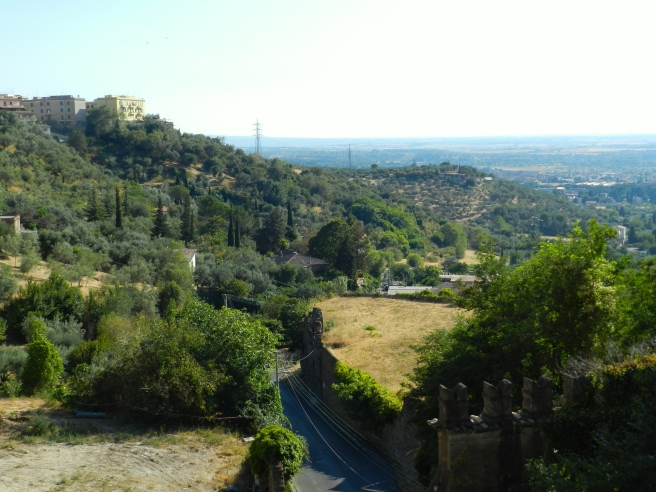 The View of Tivoli from Villa d'Este.  You should visit Tivoli just for this view.