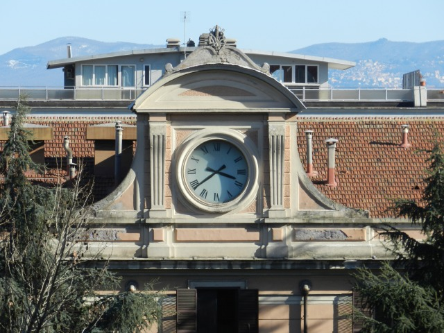 The old railway station looks over Viale di Trastevere in the heart of the neighborhood.