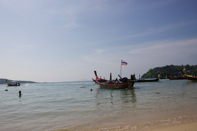 Absolutely love the longtail boats all over the islands of Thailand.  So glad we were able to hitch a ride on one of these bad boys to Coral Island