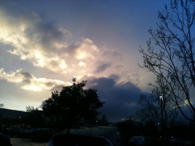Sunset over Healdsburg