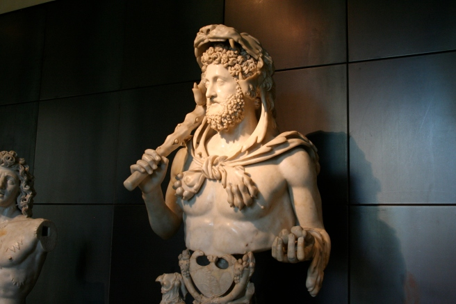You do not need to feel threatened in Rome, only Commodus dressed as Hercules carries a club