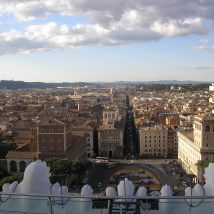 View of Rome from Piazza Venezia