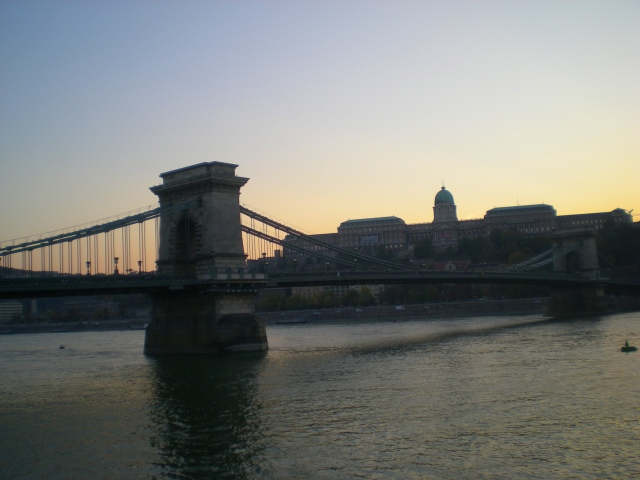 Sunset over the Danube