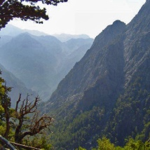 This is where you get dropped off when you want to hike the Samaria Gorge. It ends at the water...