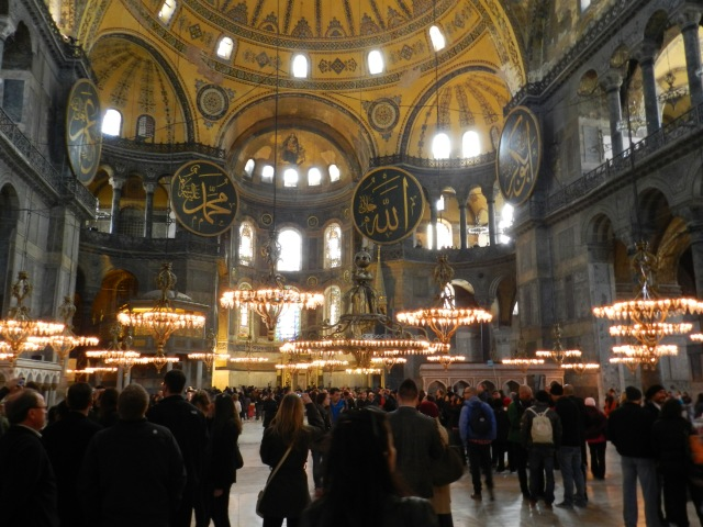 Few places can really be said to combine east and west but as cliche as it may be, the Hagia Sophia really does encompass both east and west