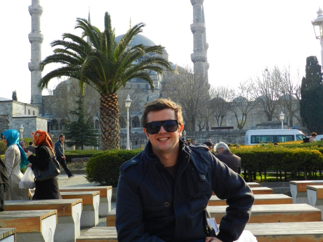 Alex in front of the Blue Mosque