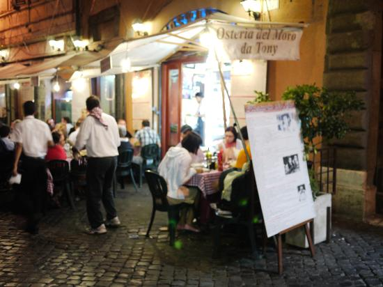 You cannot miss Tony's as you walk down Viccolo da Cinque.  It is a loud and riotous place and its tables and umbrellas stake a huge chunk of the road. Photo courtesy of Trip Advisor