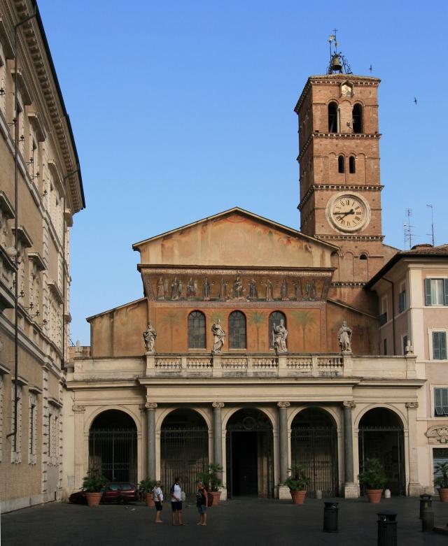The facade of Santa Maria in Trastevere Photo courtesy of Wikipedia