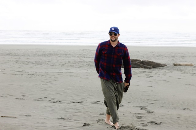 Alex loves the beach so of course we had to stop and explore.  This beach was just north of Eureka near Humboldt State
