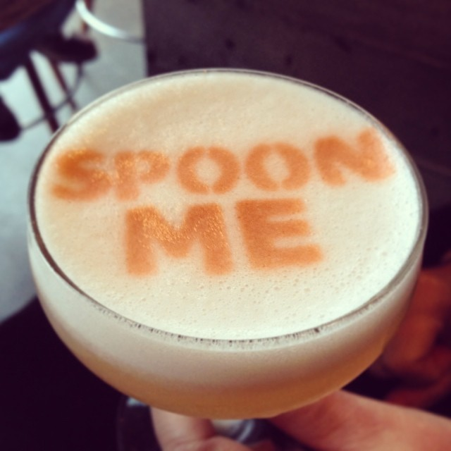 SpoonBar Pisco Sour, just one of their many delightfully fun cocktails