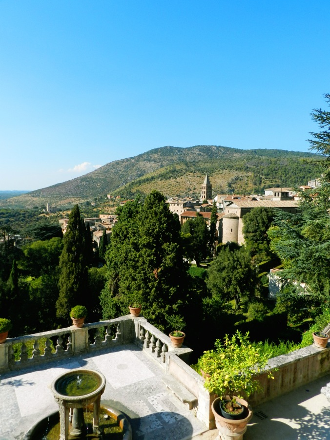 This is the view you are greeted with as you enter the gardens at Villa d'Este.  This alone should convince you to visit