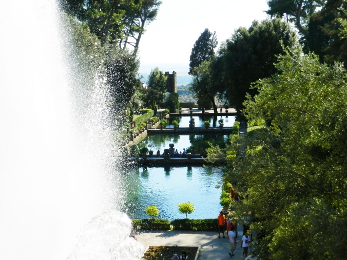 The main terrace of the Villa d'Este has these gorgeous reflecting pools and is a great spot to relax and take it all in.