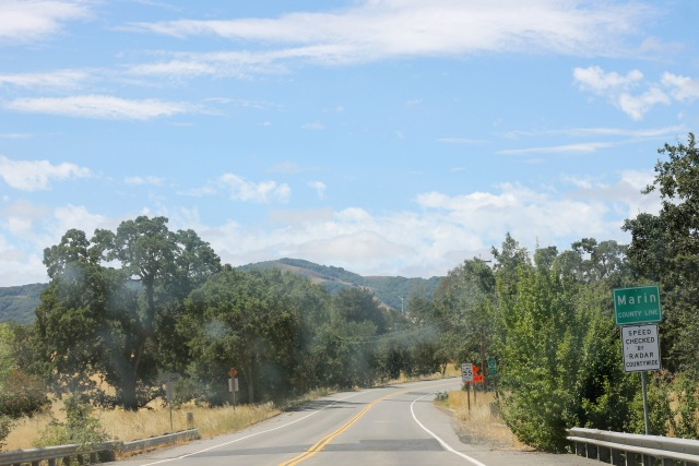 The exit we took off 101 was this little country road that took us to Tomales Bay