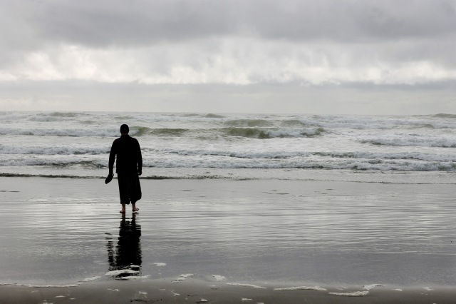 Walking Along the Pacific Ocean