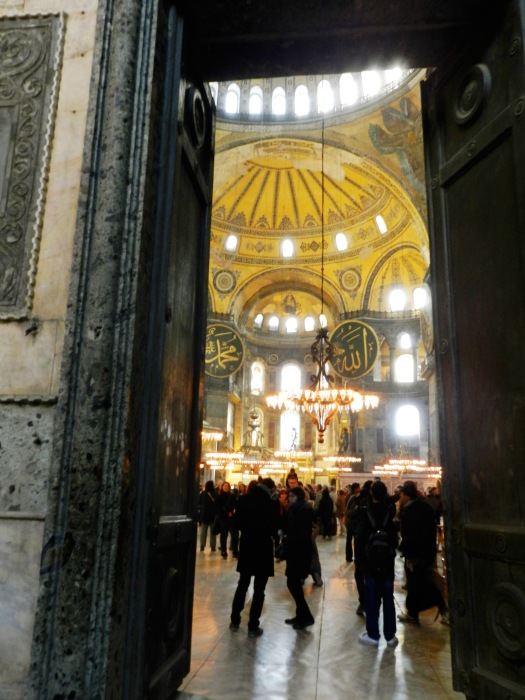 The Hagia Sophia has a somewhat understated entrance but then it opens up into the opulent central nave