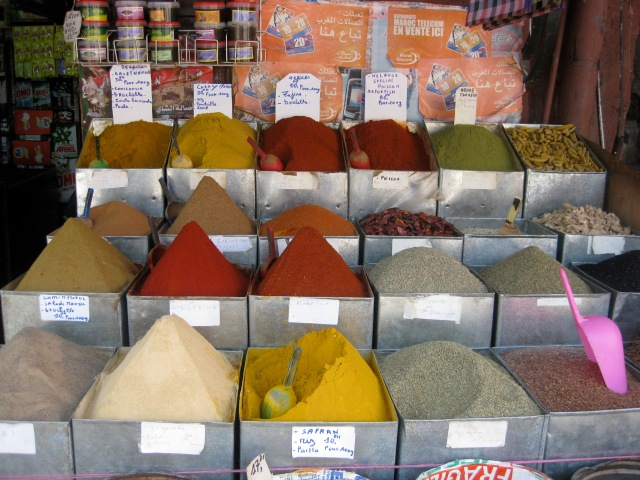 Spice stand in Morocco