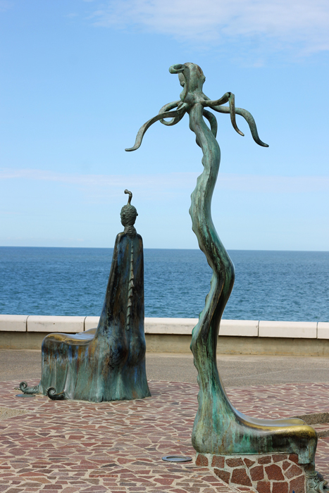 It is worth taking a stroll down the Malecon just to see all the interesting bronze statues that line it.  I loved that everyone was taking pictures and taking time to look and enjoy the art