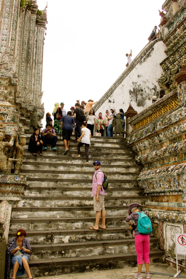 The Easy Part of the Hike Up Wat Arun