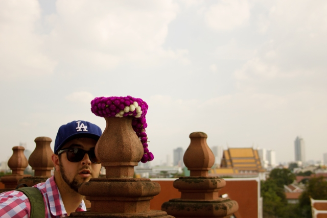 Goofing off at the top of Wat Arun
