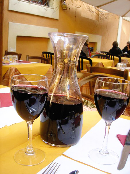 Liter of Wine at Insalata Ricca