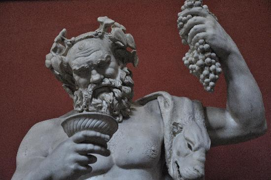 Baccus the the Roman God of wine.